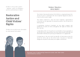 Leaflet: Restorative Justice and Child Victims' Rights