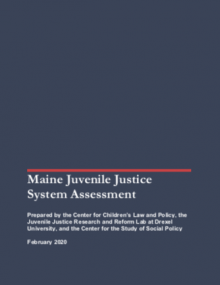 Maine Juvenile Justice System Assessment